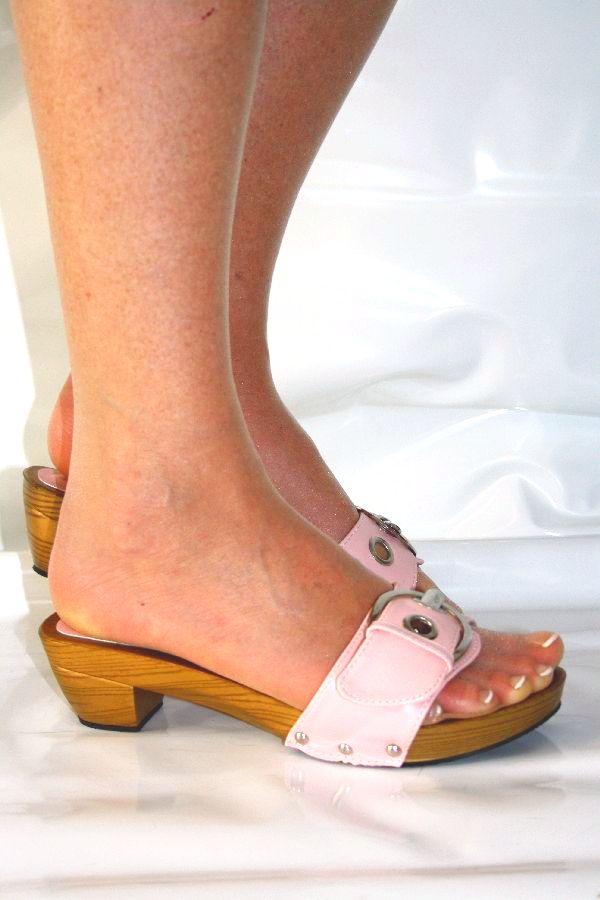 clogs holz mules pantolette pink rosa trendy ebay. Black Bedroom Furniture Sets. Home Design Ideas