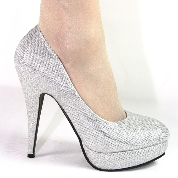 high heels pumps plateau 13 cm silber glitzer sexy edel ebay. Black Bedroom Furniture Sets. Home Design Ideas