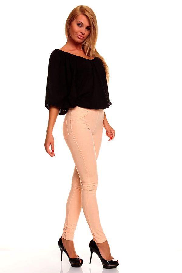 sexy leggings steghose damen hose aprikose rosa s m l xl. Black Bedroom Furniture Sets. Home Design Ideas